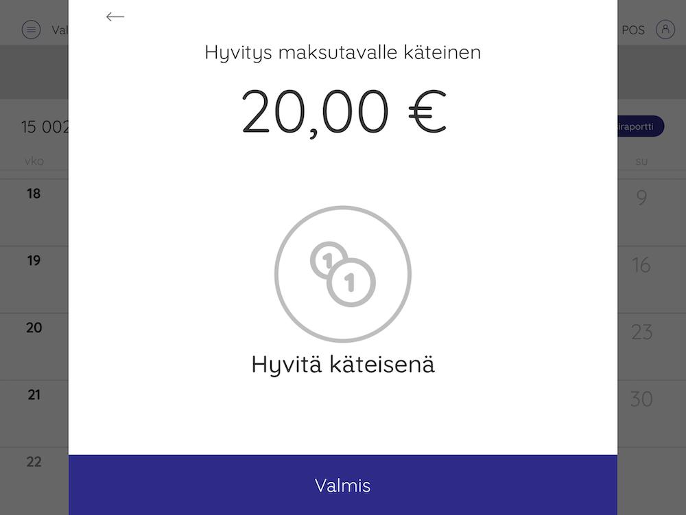 hyvitys maksutavalle